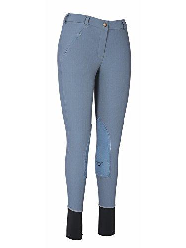 TuffRider Ladies Ribb Lowrise Knee Patch Regular Breeches Smoke 26 EU (Ribb Jodhpurs Low Rise)