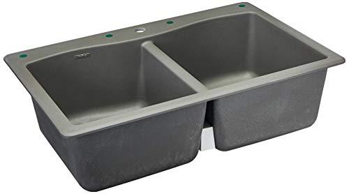 (Kraus Forteza Granite Kithen Sink, 33 Inch, KGD-52GREY)