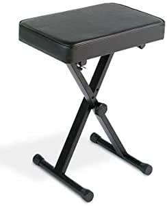 YAMAHA PKBB1 Adjustable Padded Keyboard X-Style Bench, Black,19.5 Inches