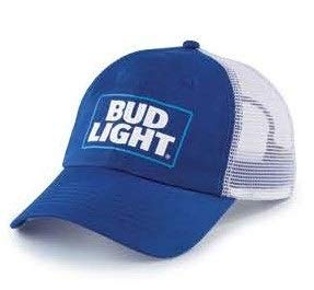 Bud Light Snap Back Hat - Blue and White