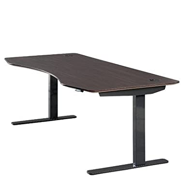 ApexDesk 71  W Electric Height Adjustable Standing Desk (American Walnut Top / Black Frame)