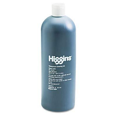 (Higginsamp;reg; - Higgins Waterproof India Ink for Art/Technical Pens, Black, 32 oz Bottle - Sold As 1 Each - Versatile, highly workable formula.)