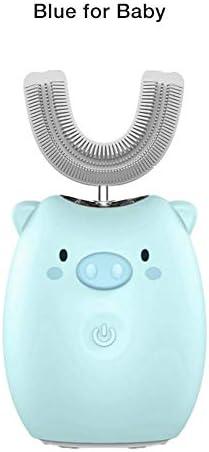 Cosy-TT Automatische elektrische 360 ° Ultraschall-Zahnbürste für Kinder, geräuscharme intelligente elektrische U-förmige Ultraschall-Zahnbürste für Erwachsene, USB, FDA / IPX7