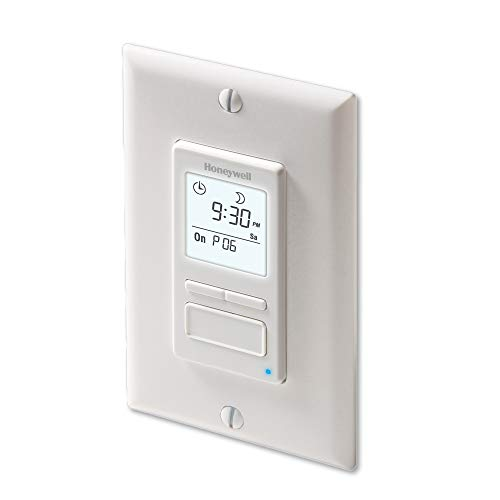 Honeywell Home RPLS740B1008 Econoswitch 7-Day Programmable Light Switch Timer, White