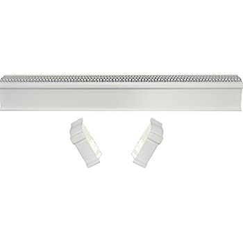 Baseboard Heat Covers, Baseboard Heater Cover WITH End Caps (Left and Right) | Hot Water Heating Cover Enclosure, Direct Replacement Kit for Slant Fin - Rust Proof/Energy Efficient - 6' White
