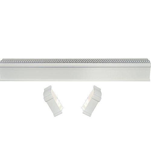 (Baseboard Heat Covers, Baseboard Heater Cover WITH End Caps (Left and Right) | Hot Water Heating Cover Enclosure, Direct Replacement Kit for Slant Fin - Rust Proof/Energy Efficient - 6')