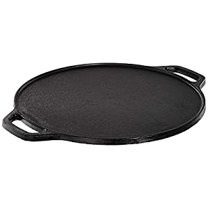 Amazon Brand – Solimo Pre-Seasoned Cast Iron Dosa Tawa, 12 Inches (30 cm)