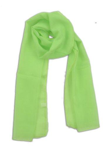 LJL Design Chiffon Scarf Oblong (Mint) (Daphne Costume)