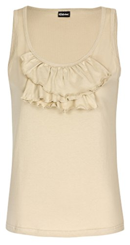 Chillytime - Camiseta sin mangas - Básico - para mujer Beige