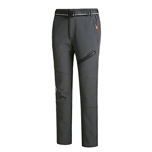 Koola Outdoors - Pantalón impermeable para esquí/senderismo, camping, ciclismo, de secado rápido Herren-Grau
