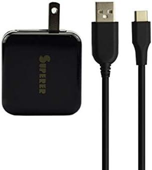 Cargador rápido Plegable Tipo C para teléfono ZTE Zmax Pro Z981 con Cable de Carga de 5 pies: Amazon.es: Electrónica
