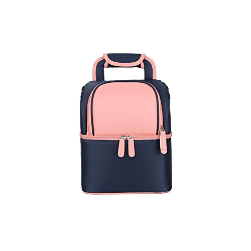 (Lunch Bag Cooler Picnic Bags for Food Women Thermal Lunch Box Kids Milk Bag Double Layer Fashion Portable,pink)