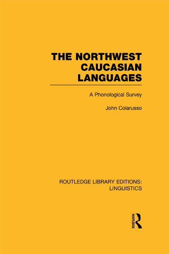 Download The Northwest Caucasian Languages (RLE Linguistics F: World Linguistics): A Phonological Survey (Routledge Library Editions: Linguistics) Pdf