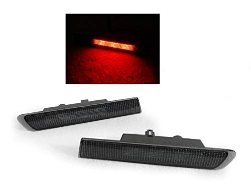 DEPO JDM Type-S Look Rear Red LED Smoke Side Marker Light Compatible and Fits For 2004-2008 Acura TL - Compatible and Fits For Acura ()