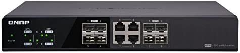 QNAP QSW-804-4C Switch No administrado None Negro - Switch de Red (No administrado, None, Bidireccional Completo (Full Duplex), Montaje en Rack)