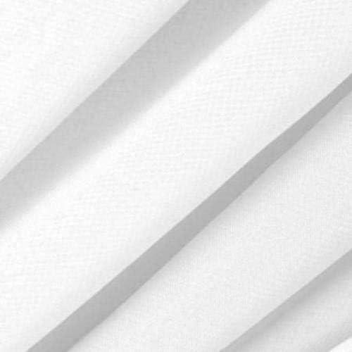 "White Stretch Chiffon Apparel Drapery Fabric - Sold by The Yard - 60"""