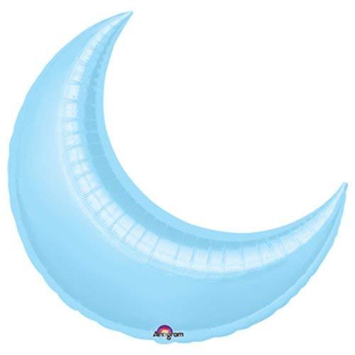 Anagram 16312 Crescent Moon - Pastel Blue Foil Balloon 26
