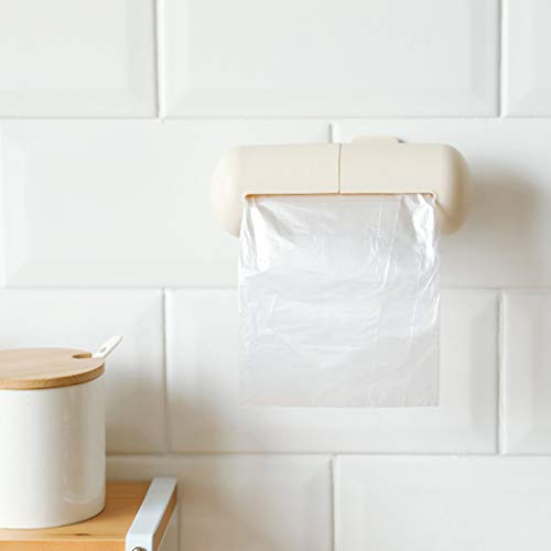 JHFUH Storage Boxs Rubbish Bag Toilet Paper Holder Case Garbage Rubbish Bag Capsule Design Storage Wall-Mounted (Beige)