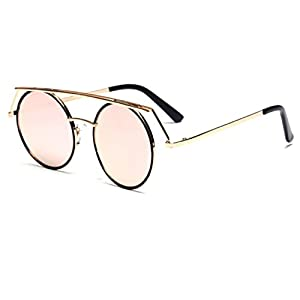 Konalla Personalized Metal Frame Round LensesUV Protective Sunglasses C2