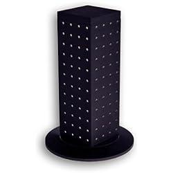 Azar 700220-BLK 4-Sided Revolving Pegboard Counter Display, Black