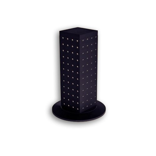 Azar 700220-BLK 4-Sided Revolving Pegboard Counter Display, Black from Azar