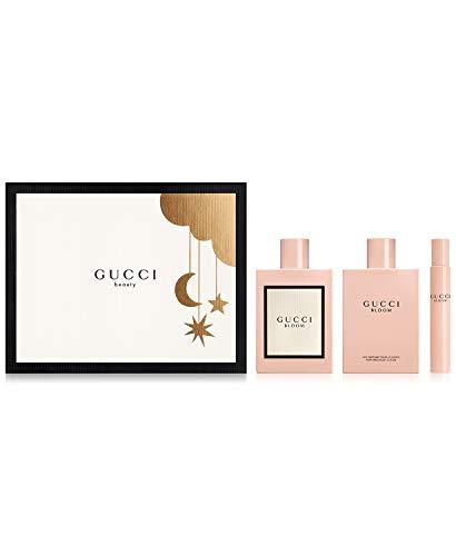 Gucci Bloom for Women 3 Piece Set Includes: 3.3 oz Eau de Parfum Spray + 3.3 oz Body Lotion + 0.25 oz Eau de Parfum Fragrance Rollerball