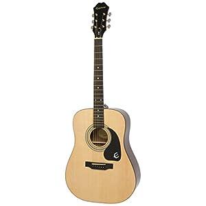 Epiphone DR-100 Dreadnaught Akustik-Gitarre (Naturlack, Mahagoni Korpus, Ausgewählte Fichtendecke, 25.5 Mensur…