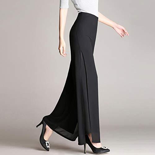 AKDYH Pantaloni da Donna Pantaloni da Donna in Chiffon Sottile da Donna Pantaloni A Gamba Larga da Donna Pantaloni da Ballo A Vita Alta Pantaloni Taglie Forti