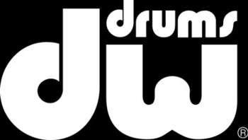 DW White Bass Drum Sticker