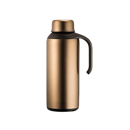 WLHW Trinkflaschen 304 Edelstahl Doppelschicht Isolierbecher 2.1L Large Capacity Isolationstopf Extra Lange Hitzebewahrung für 24 Stunden