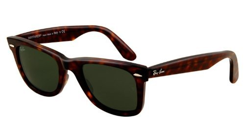 Ray-Ban RB 2140 902 50mm Wayfarer Havana / Green - 50mm 2140 Wayfarer