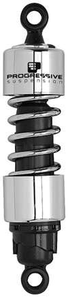 Progressive Suspension 412 Series Cruiser Shocks - 12.5in. - Chrome 412-4250C by Progressive Suspension