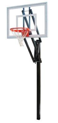 最初チームベクトルターボsteel-glass in ground調整可能バスケットボールsystem44、Siennaオレンジ B01HC0BG9Y