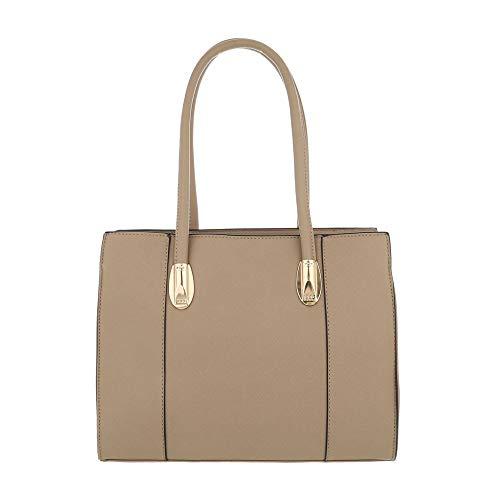 Ital Bolso Size Design beige marrón Beige mujer One de Sintético al hombro para rqrd6n75f