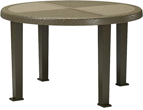 Brentwood Round Table, 48''W, Earth Brown