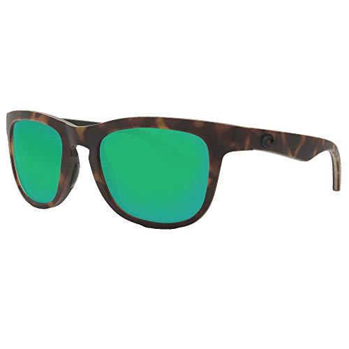 Costa Del Mar Copra Sunglass Matte Retro Tort/Crystal/Black/Green Mirror 580Plastic