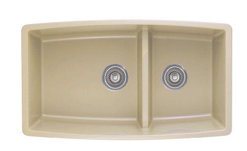 1.75 Medium Double Bowl - Blanco 441314 Performa 1.75 Medium Bowl Sink, Biscotti
