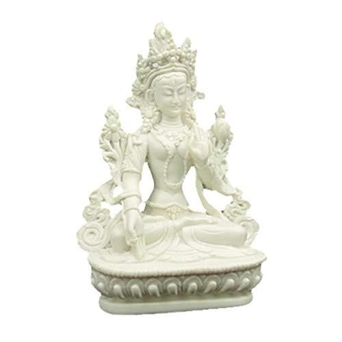 Estatua Tara Blanca 15/cm Principio Femenina buddhismo Madre La perfecci/ón en el Conocimiento deit/à compasi/ón Paz