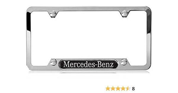 Details about  /Black Chrome Titanium AMG Mercedes Benz Laser Engraved T304  License Plate Frame