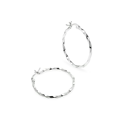 ted Hoop Earrings Round 1.5mm Thin Available in 35mm ()