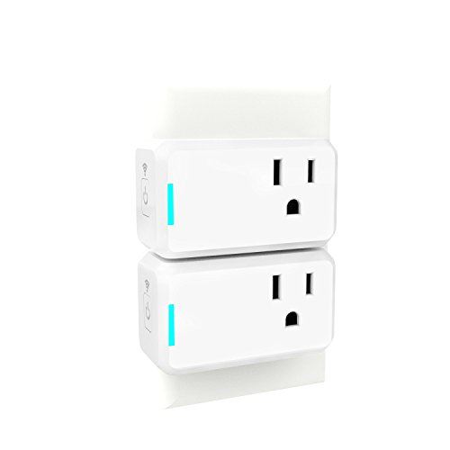 Smart Plug 2 Pack TanTan Wi-Fi Enabled Mini Switch with Timing Function, Compatible with Alexa and Google Home, No Hub Required, Remote Control Your Devices, Occupies Only One Socket [UL Certified]