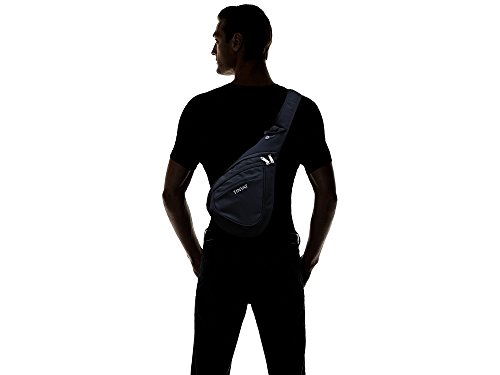 Tinyat T509 Sling Backpack Chest Bag Travel Casual Crossbody Shoulder Bag for Women/Men T509, Black
