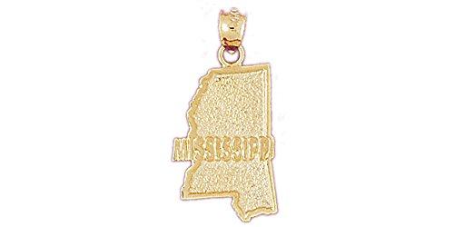 14k Yellow Gold Mississippi Pendant