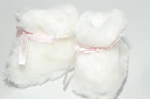 BUYS BY BELLA White Furry Boots for 18 Inch Dolls Like American Girl