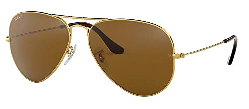 Ray Ban RB3025 001/57 58M Gold/Polarized Brown ()