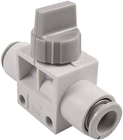 TRUUA VHK2-08F-08F Rohrpost eindrücken Schnellanschluss One Touch Fitting Handventil 8mm für Polyurethan