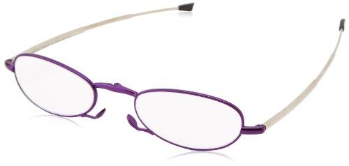 Foster Grant Women's Gwendolyn 1011555-150.FGU Rectangular Readers,Satin Purple,1.5x