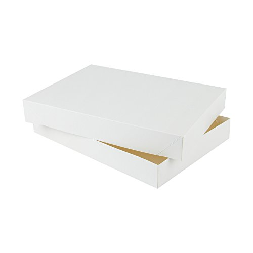 RUSPEPA 29.5 X 22 X 4.2Cm Caja De Regalo De Cartón De La Ropa Interior Con Tapas, Paquete De 10 Cajas De Regalo Decorativas A Granel (Brown Kraft): ...