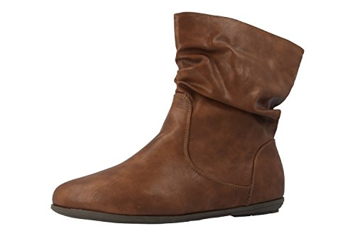 a7e71d46d3fbf5 ANDRES MACHADO Damen Stiefeletten Braun Schuhe in Übergrößen ...