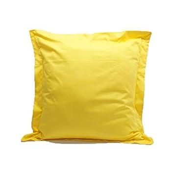 66cm x 66cm ,White 26 x 26 100/% Egyptian Cotton Pillow Cases 400 Thread Count 2 Piece Euro Shams Size